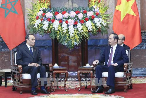 Chủ tịch nước Trần Đại Quang tiếp Chủ tịch Hạ viện Vương quốc Maroc - ảnh 1