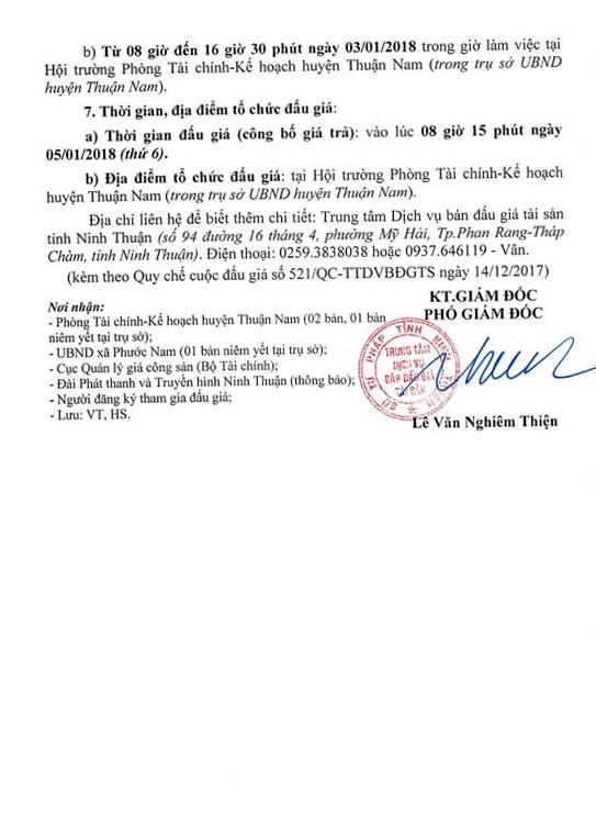 Đấu giá quyền sử dụng đất tại huyện Thuận Nam, Ninh Thuận - ảnh 4