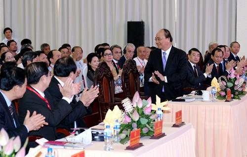 Thủ tướng Nguyễn Xuân Phúc dự Hội nghị xúc tiến đầu tư năm 2017 tại tỉnh Đồng Tháp. Ảnh: VGP