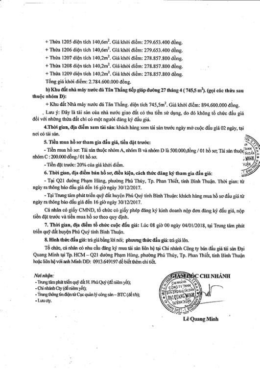 Đấu giá quyền sử dụng đất tại huyện Phú Quý, Bình Thuận - ảnh 2