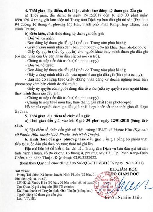 Đấu giá quyền sử dụng đất tại huyện Ninh Phước, Ninh Thuận    - ảnh 2