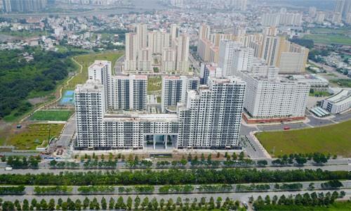 Khu tái định cư Bình Khánh nằm bên Đại lộ Mai Chí Thọ.