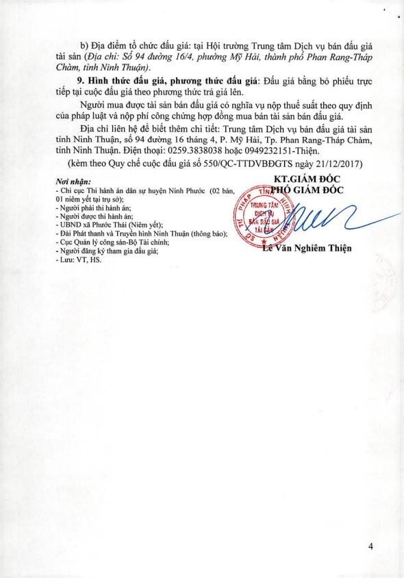 Đấu giá quyền sử dụng đất và TSGLVĐ tại huyện Ninh Phước, Ninh Thuận - ảnh 4