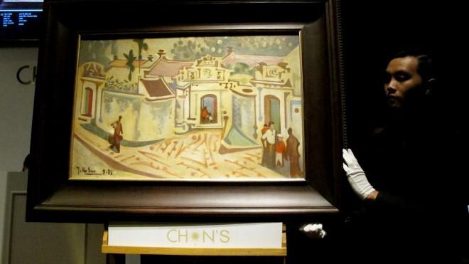 """Tác phẩm """"Lối về Bắc bộ"""" của Nguyễn Trọng Kiệm đã tăng giá đến 600%, bán 14.000 USD"""
