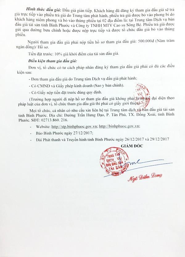 Đấu giá tài sản thuộc DA cáp treo Thác Mơ tại Bình Phước - ảnh 3