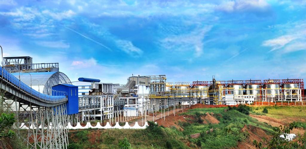 Toàn cảnh nhà máy Alumin Nhân Cơ