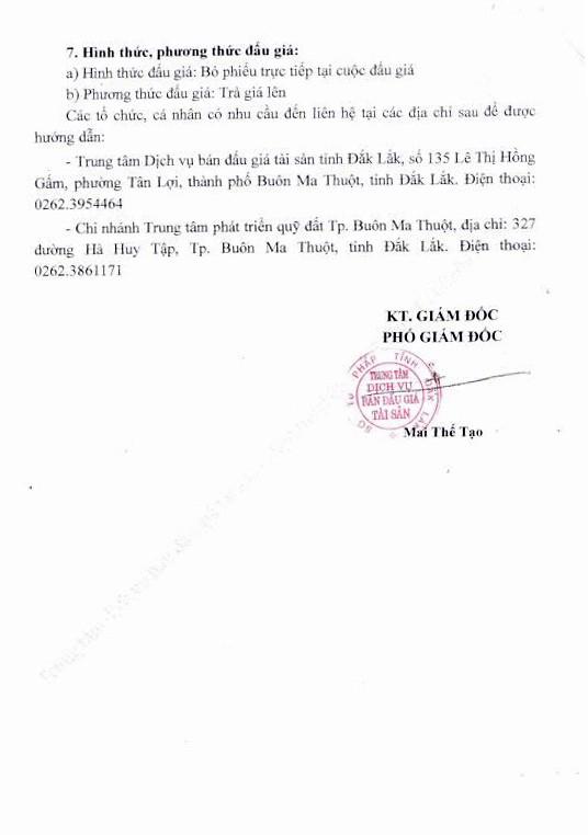 Đấu giá quyền sử dụng đất tại TP.Buôn Ma Thuột, Đắk Lăk - ảnh 2