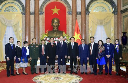 Chủ tịch nước Trần Đại Quang tiếp Chánh án TANDTC Lào - ảnh 1
