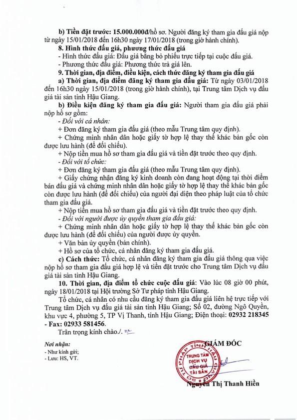 Đấu giá xe ô tô tại Hậu Giang - ảnh 2