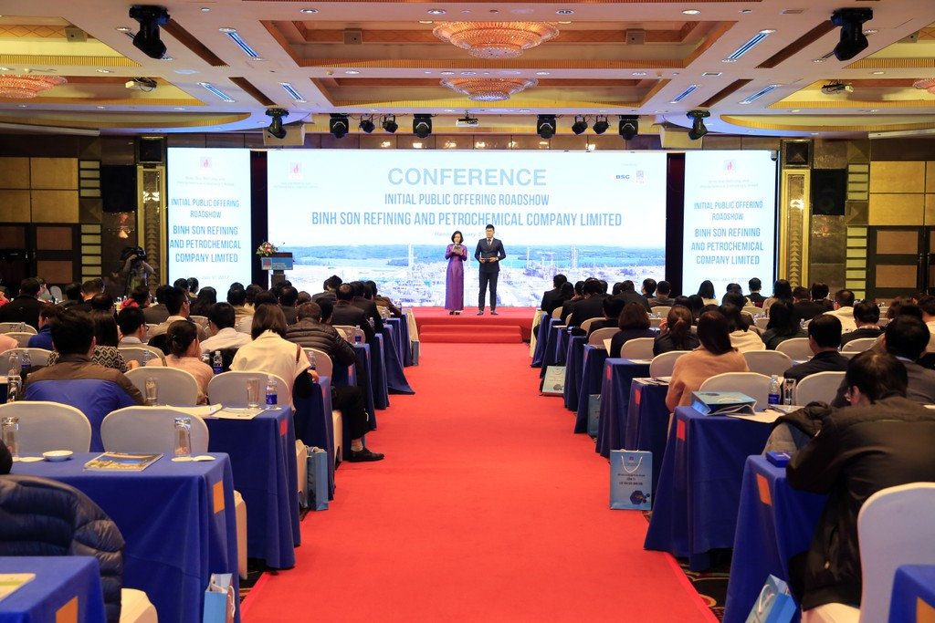 Hội thảo giới thiệu cơ hội đầu tư vào cổ phần BSR tại Hà Nội.