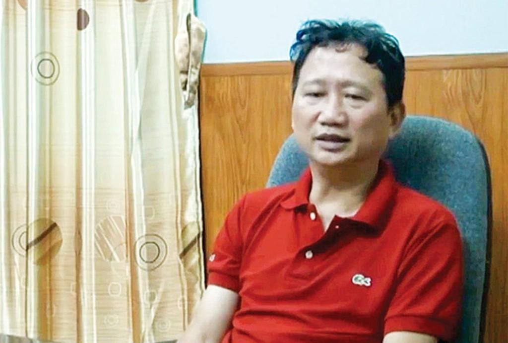 Bị cáo Trịnh Xuân Thanh. Ảnh Internet
