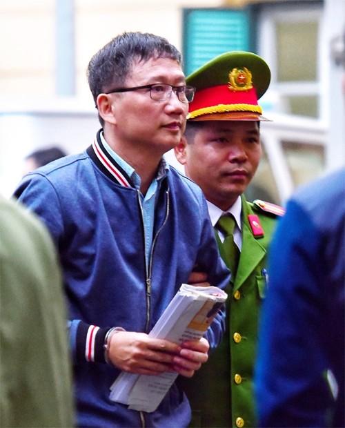 Ông Trịnh Xuân Thanh tại Tòa án Hà Nội.