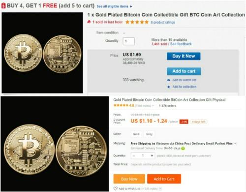 Nhộn nhịp rao bán đồng xu Bitcoin lì xì Tết - ảnh 1