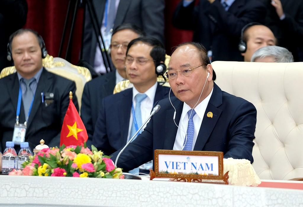 Thủ tướng kết thúc tham dự Hội nghị cấp cao Hợp tác Mekong-Lan Thương - ảnh 1