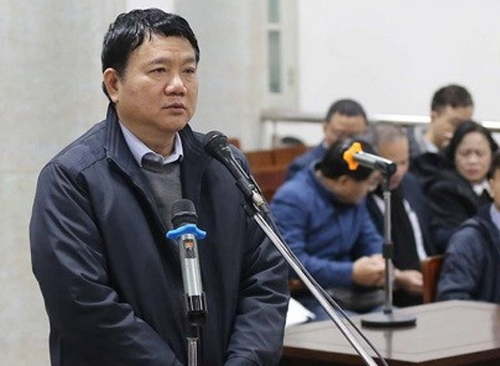 Ông Đinh La Thăng tại tòa trong sáng 10/1. Ảnh: TTXVN