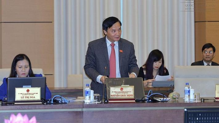 Chủ nhiệm Uỷ ban Pháp luật Nguyễn Khắc Định đề xuất phượng án mới cho chính quyền đặc khu.