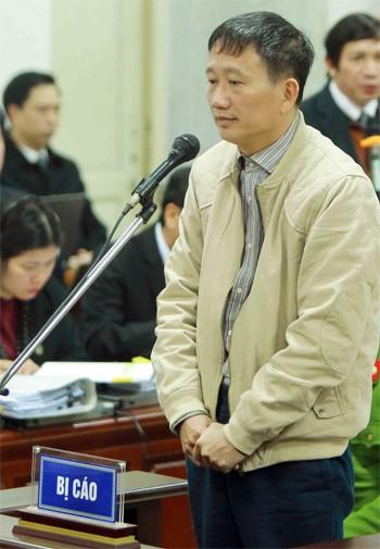 Ông Trịnh Xuân Thanh tại TAND Hà Nội. Ảnh: TTXVN