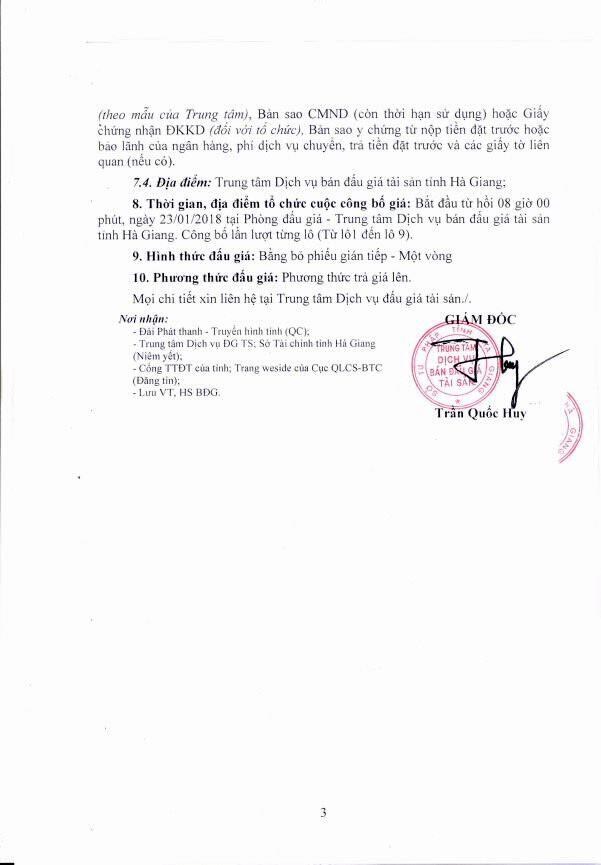 Đấu giá xe ô tô tại Hà Giang - ảnh 3