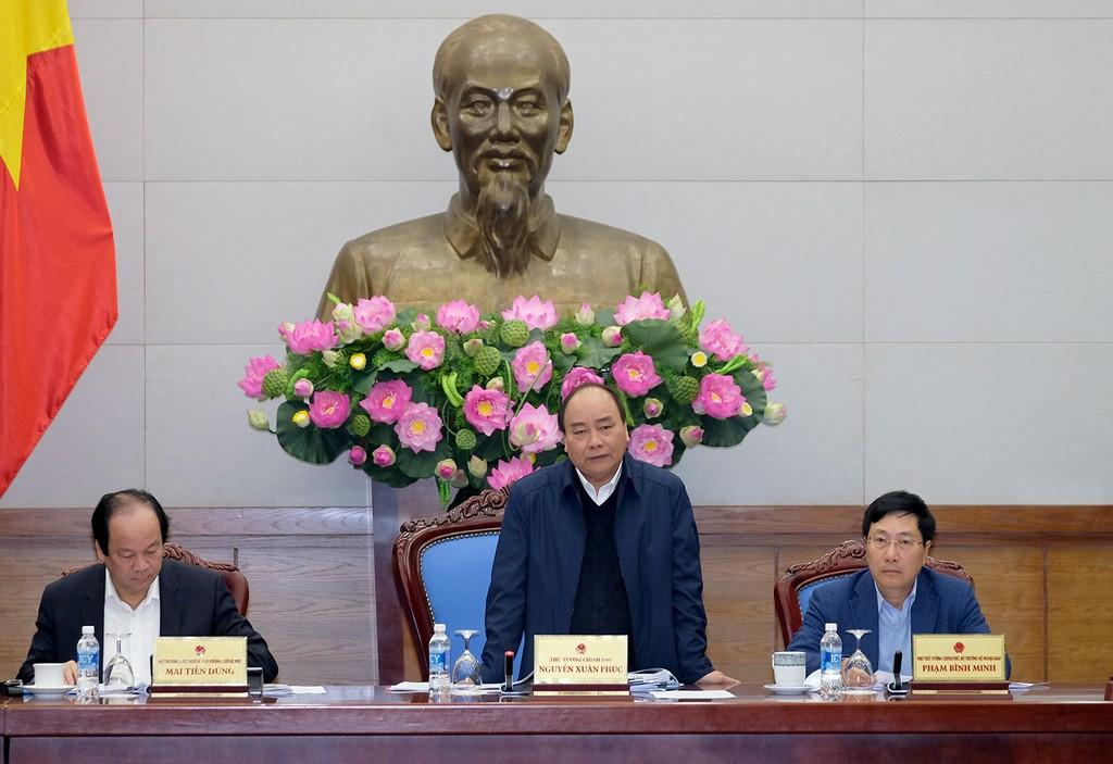 Thủ tướng nhấn mạnh trong năm 2018 tiếp tục thúc đẩy hợp tác song phương Việt Nam – Lào trên các lĩnh vực. Ảnh: VGP