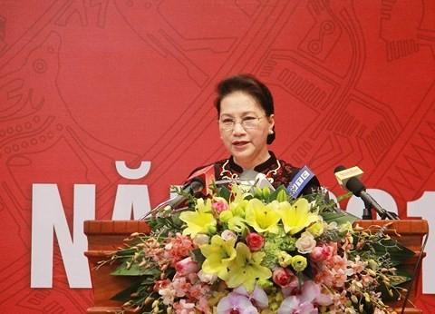 Chủ tịch Quốc hội phát biểu tại Hội nghị triển khai nhiệm vụ năm 2018 của Kiểm toán Nhà nước.