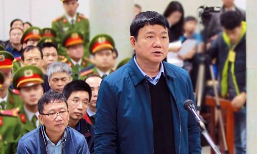 Bị cáo Đinh La Thăng tại phiên tòa. Ảnh: TTXVN