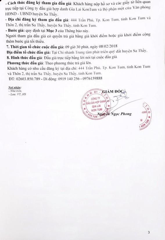 Đấu giá quyền sử dụng đất tại huyện Sa Thầy, Kon Tum - ảnh 3