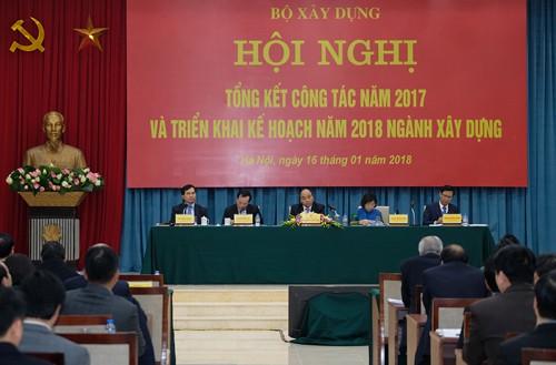 Thủ tướng dự hội nghị triển khai kế hoạch năm 2018 ngành Xây dựng - ảnh 1