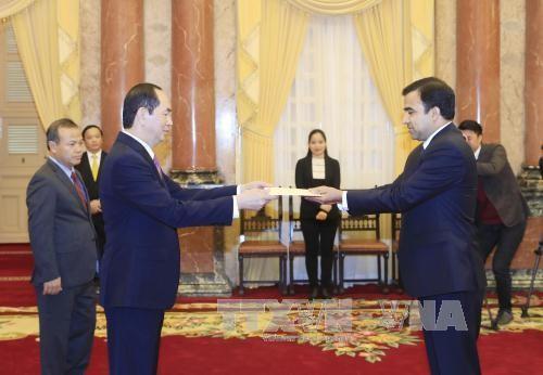Chủ tịch nước tiếp các Đại sứ trình Quốc thư - ảnh 3