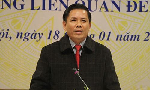 Bộ trưởng Giao thông Vận tải  Nguyễn Văn Thể.