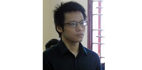 Nguyễn Trí Đức tại tòa.
