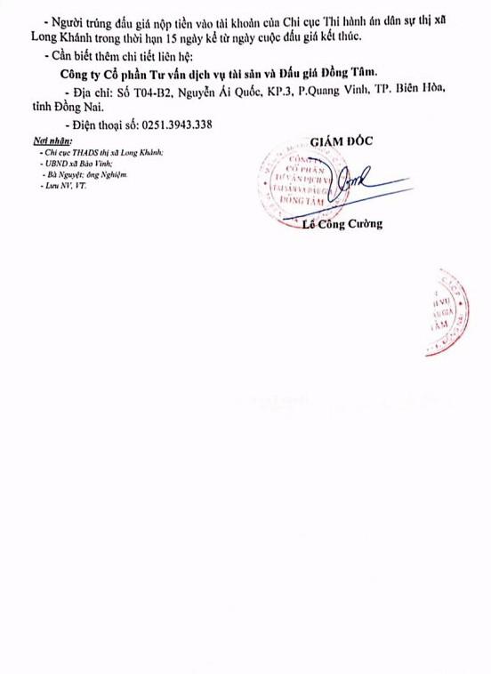 Đấu giá quyền sử dụng đất và CTXD tại TX.Long Khánh, Đồng Nai - ảnh 3