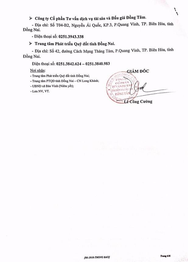 Đấu giá quyền sử dụng đất và CTXD tại TX.Long Khánh, Đồng Nai - ảnh 6