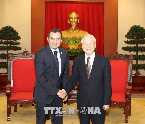 Tổng Bí thư nhiệt liệt hoan nghênh Chủ tịch Thượng viện Mexico Ernesto CorderoArroyo sang Việt Nam dự APPF-26.
