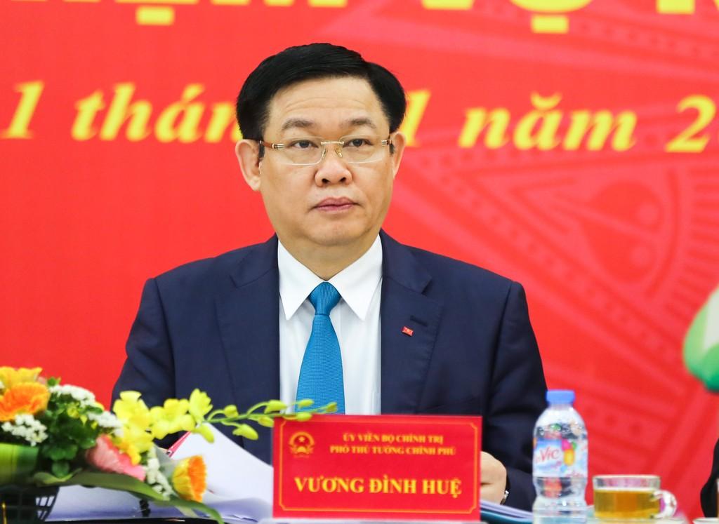 Phó Thủ tướng Vương Đình Huệ dự hội nghị triển khai nhiệm vụ năm 2018 của Liên minh Hợp tác xã Việt Nam. Ảnh: VGP