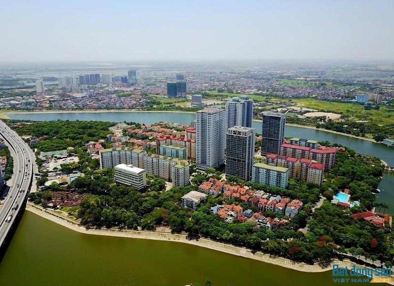 Một góc khu đô thị Linh Đàm.