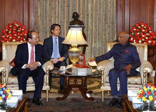 Thủ tướng Nguyễn Xuân Phúc hội kiến Tổng thống Ấn Độ - ảnh 1