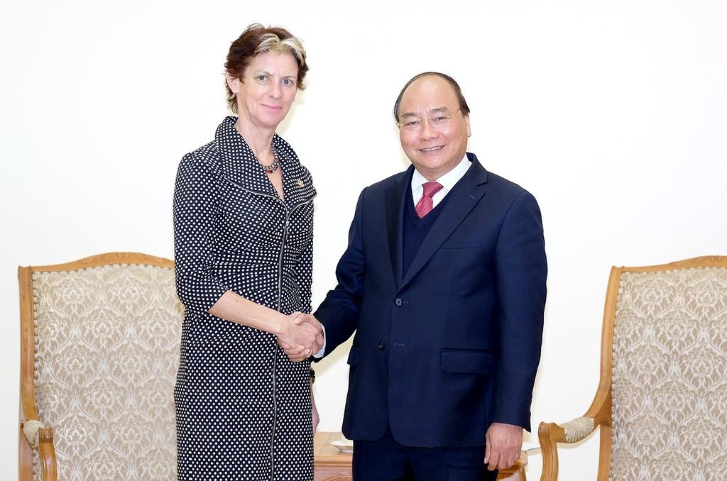 Thủ tướng tiếp Trợ lý Tổng thư ký Liên Hợp Quốc. Ảnh: VGP