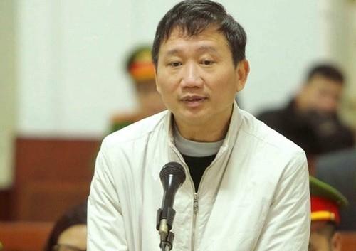 Bị cáo Trịnh Xuân Thanh. Ảnh: VietnamPlus