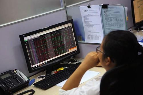 """Nhà đầu tư nhiều người rơi vào trạng thái hoảng loạn khi thấy hàng loạt cổ phiếu """"đỏ rực"""". Ảnh: ĐTCK."""
