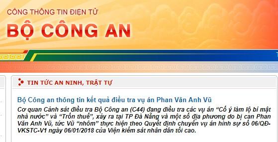 """Ông Phan Văn Anh Vũ bị điều tra về hành vi """"Lợi dụng chức vụ, quyền hạn trong khi thi hành công vụ"""" - ảnh 1"""