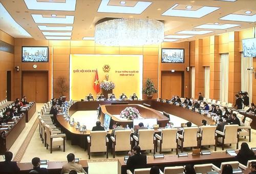 Quang cảnh phiên họp thứ 21 của UBTVQH. Ảnh: VGP