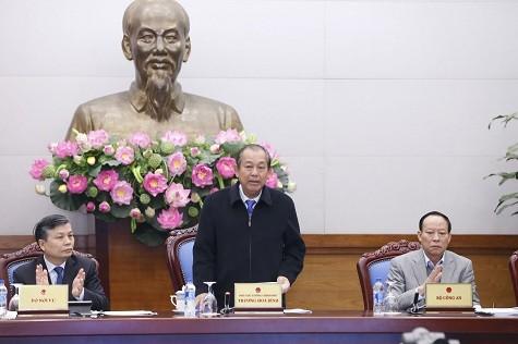 Phó Thủ tướng Thường trực Chính phủ Trương Hòa Bình phát biểu tại Hội nghị - Ảnh: VGP