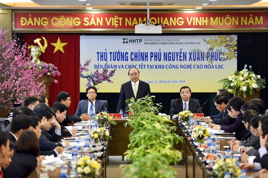 Thủ tướng: Đưa Khu công nghệ cao Hòa Lạc là nơi khởi nghiệp tốt nhất - ảnh 1