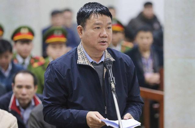 Ông Đinh La Thăng trong phiên tòa xét xử vụ án xảy tại PVN và Tổng công ty Xây lắp dầu khí Việt Nam.