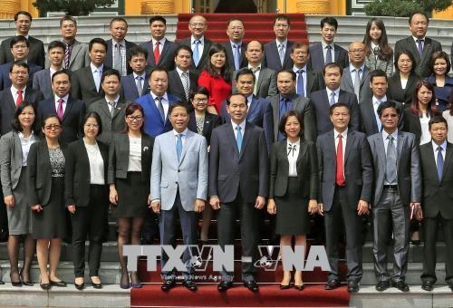 Chủ tịch nước Trần Đại Quang gặp mặt các tham tán thương mại - ảnh 1