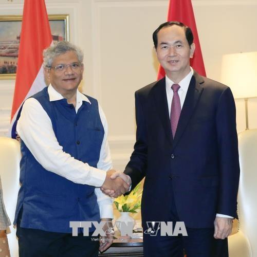 Chủ tịch nước tiếp lãnh đạo hai Đảng Cộng sản của Ấn Độ - ảnh 1