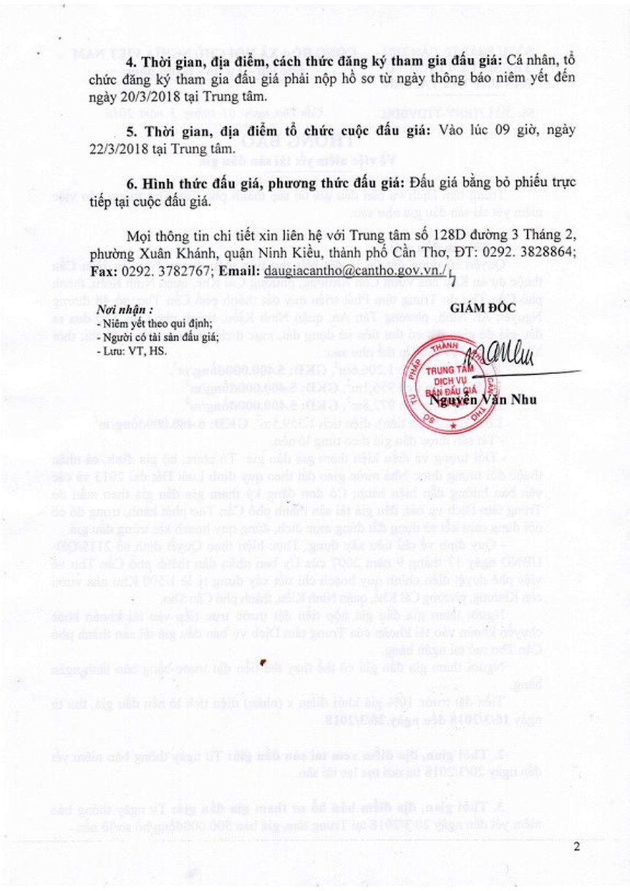Đấu giá quyền sử dụng đất tại quận Ninh Kiều, thành phố Cần Thơ - ảnh 2