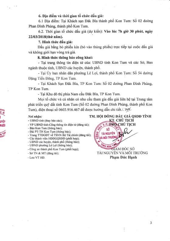 Đấu giá quyền sử dụng đất tại thành phố Kon Tum, Kon Tum - ảnh 3