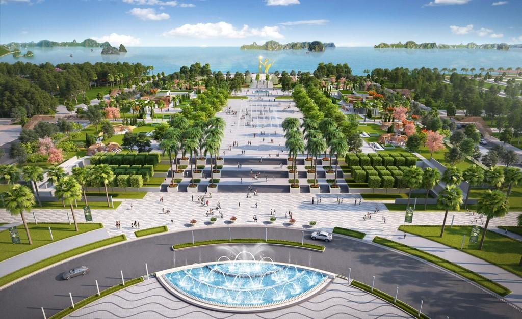 Phối cảnh Quảng trường Sun Carnival Plaza.