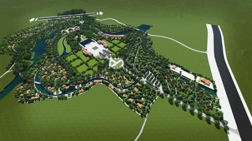 Phối cảnh đề xuất thiết kế Công viên Hòa Bình Mỹ Lai. Ảnh: UBND Quảng Ngãi.